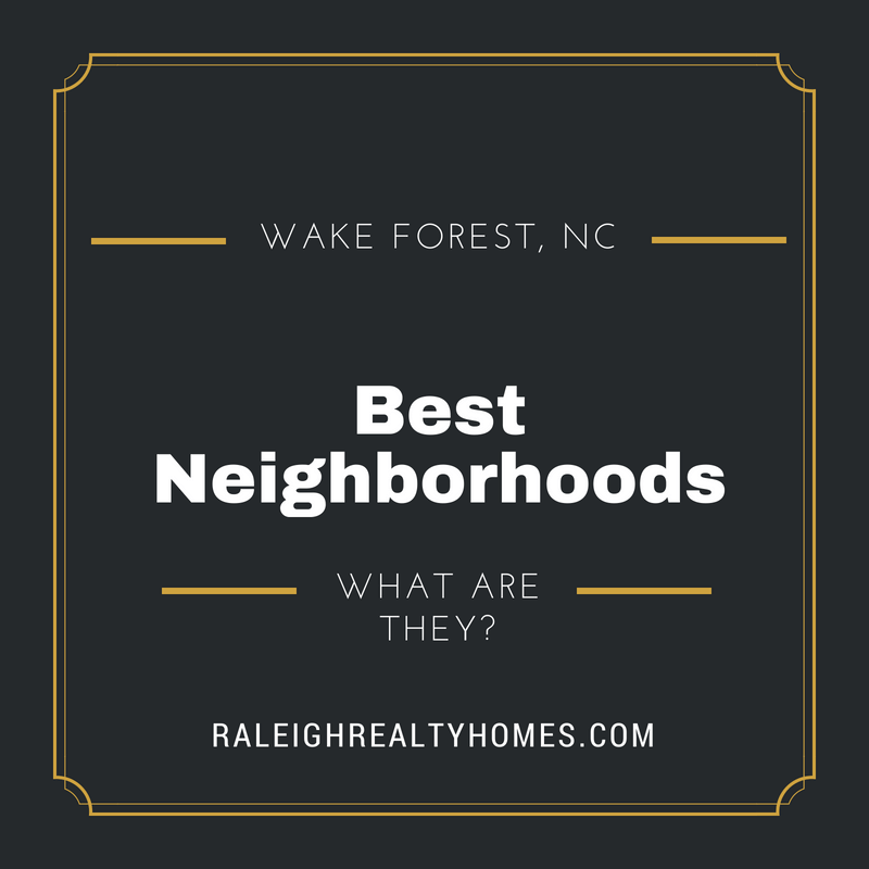Best neighborhoods in Wake Forest, North Carolina - What it's like living here!