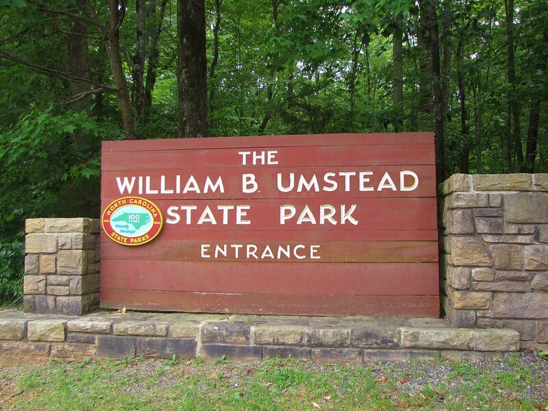 William B Umstead State Park Entrance