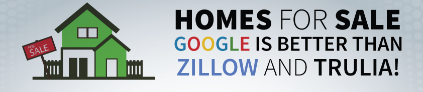 Homes for Sale in Raleigh use Google for accurate data Don't use Zillow or Trulia