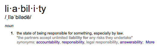 What is a liability in Real Estate?