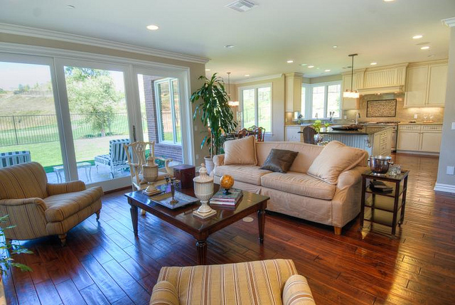 New Construction Homes for Sale Raleigh NC Living Room and Kitchen