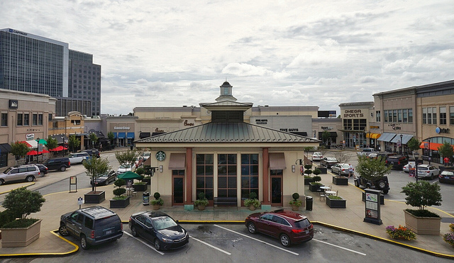 North Hills Raleigh shopping center and Starbucks in North Raleigh