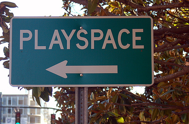 Glenwood South Playspace Sign in Raleigh NC