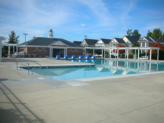 Carpenter Village Homes and Swimming Pool in Cary, NC