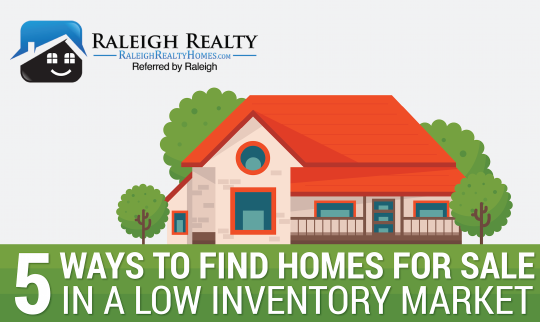 5 Ways to Find Homes for Sale Raleigh in Low Inventory Market