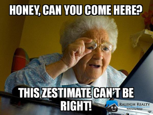 Zillow Home Values, estimates and missing real estate data!