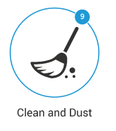 Cleaning and Dusting the house before you move into it