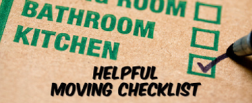 Helpful Moving Checklist Items to make your move easy!
